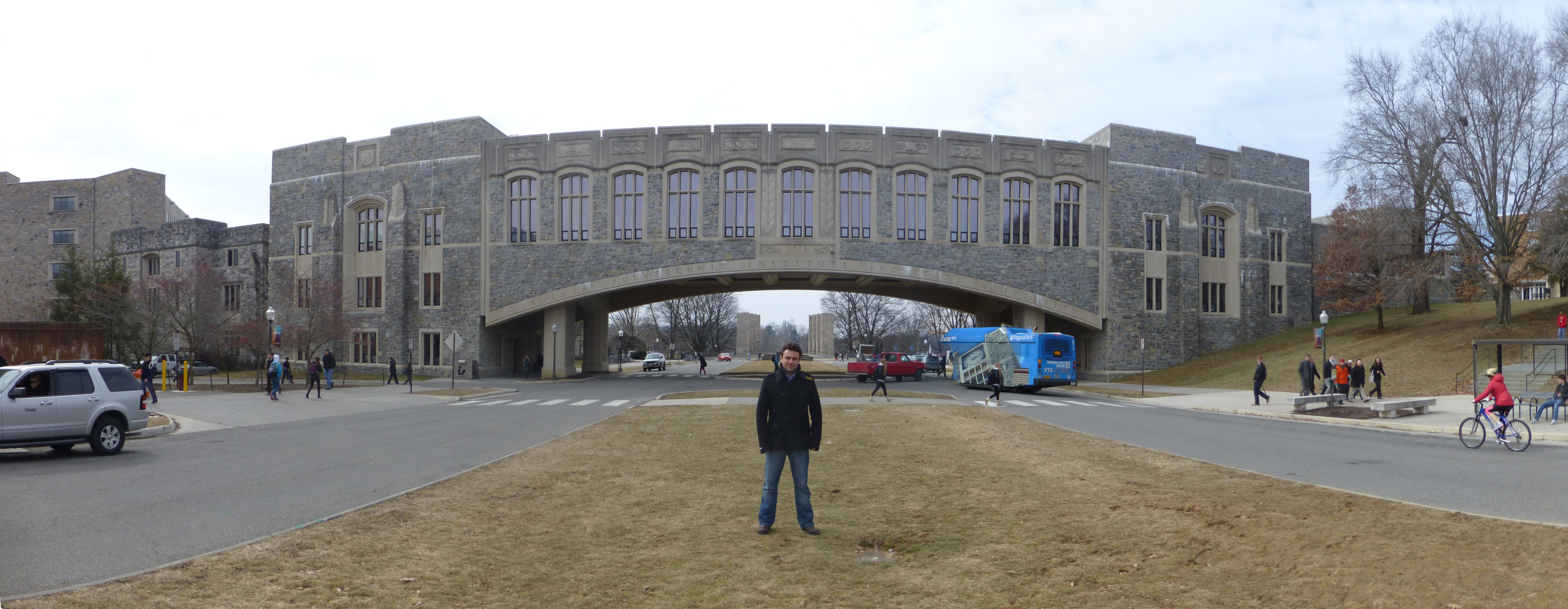 The main entrance to Virginia Tech - See, it really is overarching!