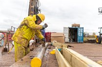 Coring a borehole at the GeoEnergy Test Bed