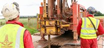 Drilling a borehole at the GeoEnergy Test Bed